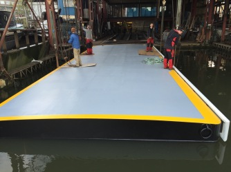 New pontoon built by MSO Marine London Boatyard
