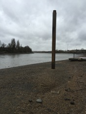 Oxford and Cambridge Boat Race finishing line pile installed by MSO Marine London Boatyard